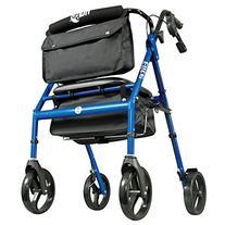 Hugo Elite Rollator Walker with Seat, Backrest and Saddle