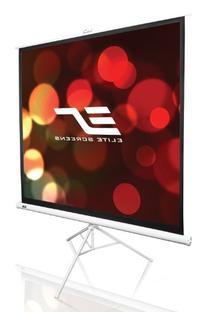 Elite Screens Tripod Series, 99-INCH 1:1, Adjustable Multi Aspect Ratio Portable Indoor Outdoor Projector Screen, 8K / 4K Ultra HD 3D Ready, 2-YEAR
