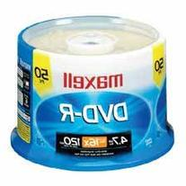 Wholesale CASE of 10 - Maxell 16X Speed Branded DVD-R