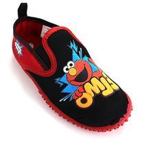 Sesame Street Boys' Elmo Aqua Socks Water Shoes, Red/Black,