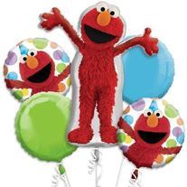 Elmo Style Birthday Bouquet Of Balloons