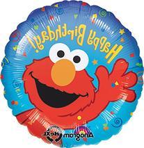 "Anagram International Elmo Birthday Foil Balloon Pack, 18"","