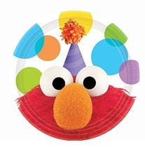 Amscan Elmo Dessert Plate, Multicolor