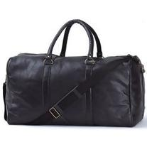 "EmbassyTM Black 21"" Hand-sewn Pebble Grain Genuine Leather"