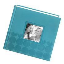 "Pioneer Embossed 2-Up Photo Album 4""X6"" 200 Pockets-Aqua"