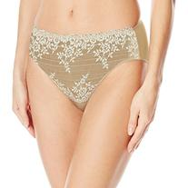 Wacoal Women's Embrace Lace Hi-Cut Brief Panty, Nude/Ivory,