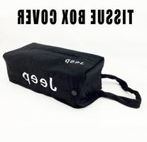 Jeep Embroidered Logo Tissue Box Cover