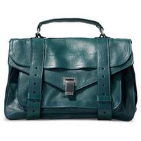 Proenza Schouler Emerald Green Leather PS1 Messenger Bag