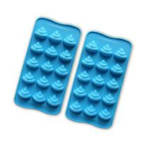 JEWSUN Emoji Cute Poop Candy Mold Chocolate Mold Ice Cube