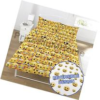 Emoji Multi Smiley Faces Double/US Full Duvet and Pillowcase