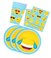 Emoji Birthday Party Supplies Set Plates Napkins Cups