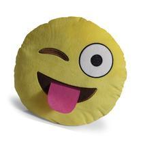OxGord Emoji Tongue Out Eye Wink Pillow Throw Pillow