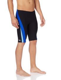 Speedo Men's Endurance+ Launch Splice Jammer Swimsuit, Black
