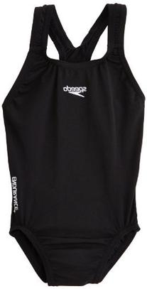 Speedo Girls Endurance Plus Medalist Swimsuit in Black or