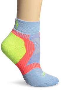 Balega Women's Enduro Low Cut Socks, Cool Blue/Coral/Neon