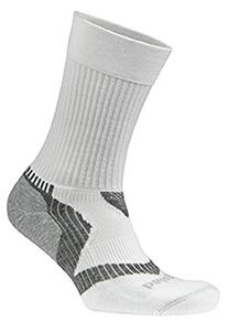 Balega Enduro V-Tech Crew Socks, White/Grey, Medium