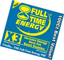 Full-Time Energy X3 - 100 Capsules - Increase Energy Burn