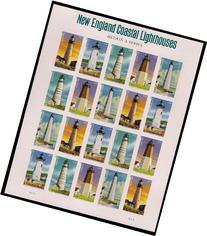 New England Lighthouses Collectible US Forever Postage Stamp