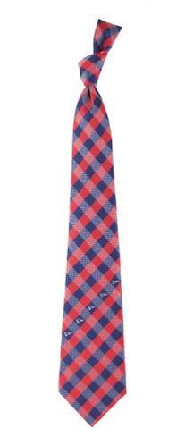 New England Patriots Check Poly Necktie