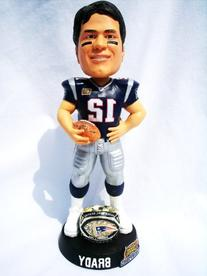 New England Patriots Rare 8inch NFL Super Bowl Tom Brady #12