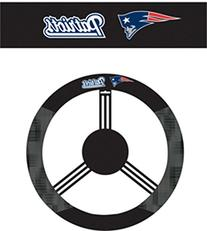 NFL New England Patriots Leather Steering Wheel Cover