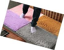 ensunpal store DURABLE Plush Velvet Slip Mats Dust Doormat