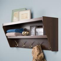 Prepac Entryway Shelf & Coat Rack - WUCW-0500-1