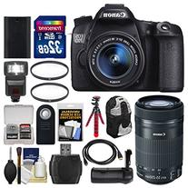Canon EOS 70D Digital SLR Camera & EF-S 18-55mm IS with 55-