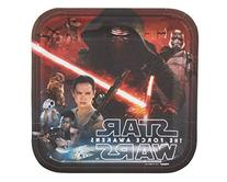 """Star Wars Episode VII 9"""" Square Plate, 8 Count, Party"""