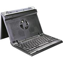 Ergo Adjustable Laptop Stand With Keyboard Cooling Fan Via