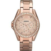 Fossil Women's ES2811 Riley Rose Gold-Tone Stainless Steel
