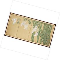Oriental Furniture Escape Silk Screen in Beige and Tan with