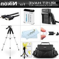 Essential Accessories Kit For Nikon COOLPIX P900, P610, P600
