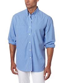 IZOD Men's Essential Check Long Sleeve Shirt, American Dream