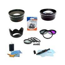58 mm Lens & Filter Kit Telephoto Lens, 4-piece Close-up