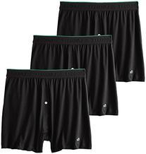 Lacoste Men's 3-Pack Essentials Cotton Knit Boxer, Black,