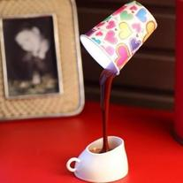 Estone Novelty DIY LED Table Lamp Home Romantic Pour Coffee