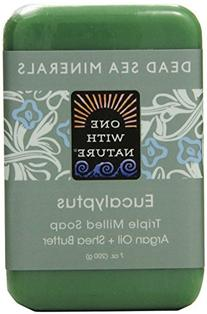 One With Nature Eucalyptus Dead Sea Mineral Soap, 7 Ounce