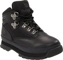 Timberland Euro Hiker Leather and Fabric Boot ,Black,5.5 M