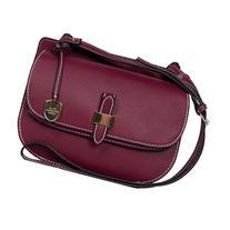 London Fog Handbags Everton Flap Crossbody Cranberry -