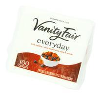 Vanity Fair Everyday 2-Ply Napkins White 100 Count