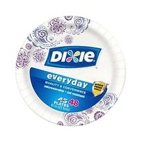 Dixie Everyday Printed Plates, 8.5 Inch - 48 Count