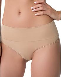 SPANX Women's Everyday Shaping Thong, Soft Nude, Small