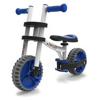 YBike Evolve Balance Bike White/Blue