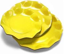 "Ex.Tra Bright Yellow 10"" Scalloped Paper Dinner Plates 10 ct"