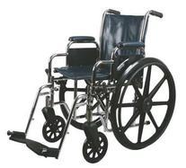 "Medline Excel 2000 Wheelchair, 16"" Wide Seat, Desk-Length"