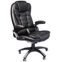 HomCom Executive Ergonomic PU Leather Heated Vibrating