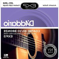 D'Addario EXP13 with NY Steel 80/20 Bronze Acoustic Guitar