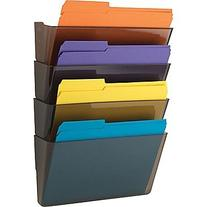 Staples Expandable Hanging Wall File Pockets, 4 Pockets,