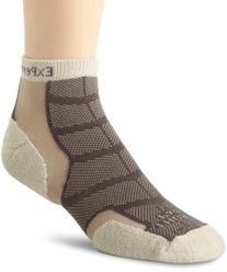Thorlo Men's Experia Merino Wool/Silk Mini Crew Sock, Khaki